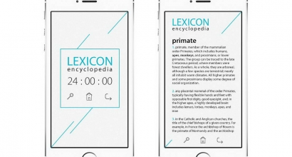 Design application interface Lexicon Encyclopaedia for foreigners